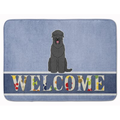 Russian Terrier Welcome Memory Foam Bath Rug