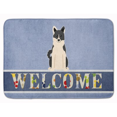 Russo-European Laika Spitz Welcome Memory Foam Bath Rug