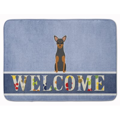 Rhodes Terrier Welcome Memory Foam Bath Rug