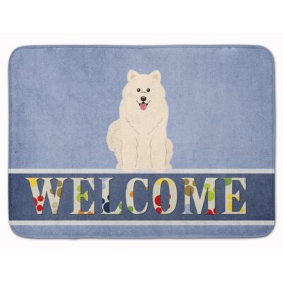 Samoyed Welcome Memory Foam Bath Rug