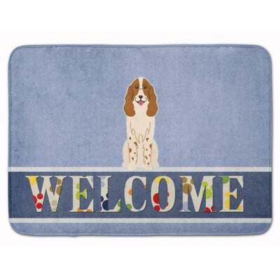 Russian Spaniel Welcome Memory Foam Bath Rug