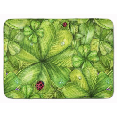 Shamrocks and Lady bugs Memory Foam Bath Rug