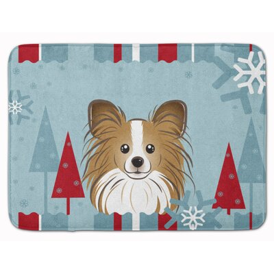 Winter Holiday Papillon Memory Foam Bath Rug