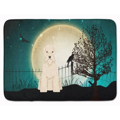 Halloween Soft Coated Wheaten Terrier Memory Foam Bath Rug