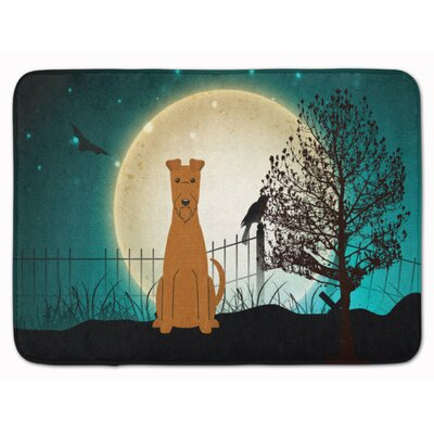 Halloween Scary Irish Terrier Memory Foam Bath Rug
