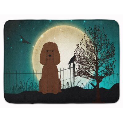 Halloween Scary Irish Water Spaniel Memory Foam Bath Rug