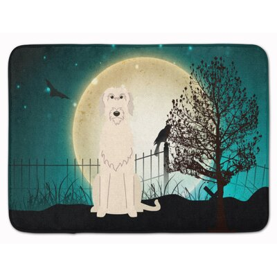 Halloween Scary Irish Wolfhound Memory Foam Bath Rug