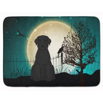 Halloween Scary Giant Schnauzer Memory Foam Bath Rug