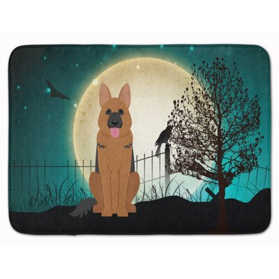 Halloween Scary German Shepherd Rectangle Memory Foam Bath Rug
