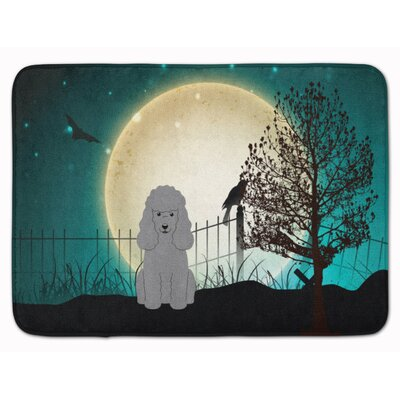 Halloween Scary Poodle Memory Foam Bath Rug Color: Silver