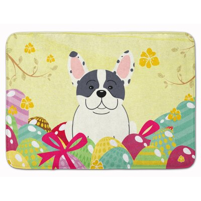 Easter Eggs French Bulldog Piebald Memory Foam Bath Rug
