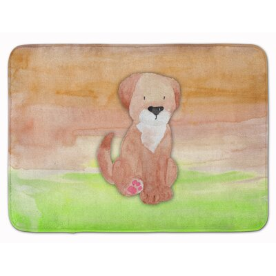Harriett Dog Watercolor Memory Foam Bath Rug