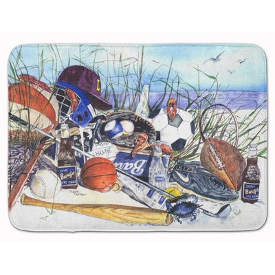 Sports on the Beach Memory Foam Bath Rug