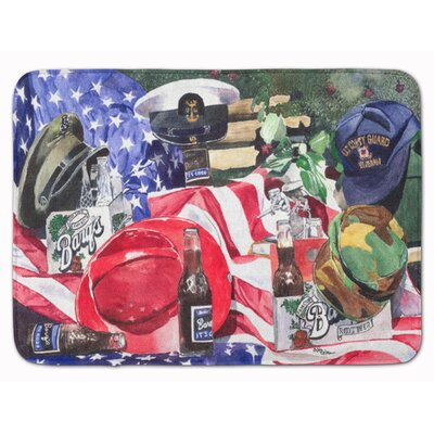 Barqs and Armed Forces Memory Foam Bath Rug