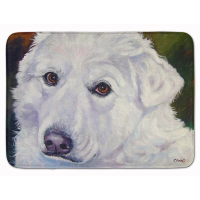 Great Pyrenees Contemplation Memory Foam Bath Rug
