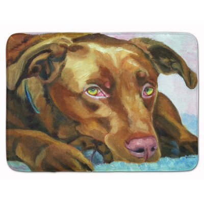 Kildare Labrador Waiting Memory Foam Bath Rug