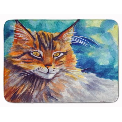 Maine Coon Cat Watching You Memory Foam Bath Rug