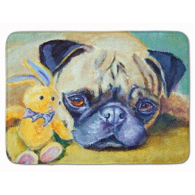Pug Bunny Rabbit Memory Foam Bath Rug