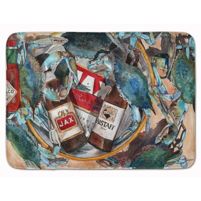 New Orleans Beers and Crabs Memory Foam Bath Rug