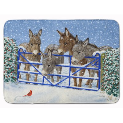 Donkeys and Cardinal Memory Foam Bath Rug