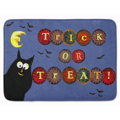 Trick or Treat Kitty Halloween Memory Foam Bath Rug