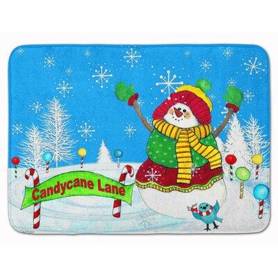Candy Cane Lane Snowman Memory Foam Bath Rug