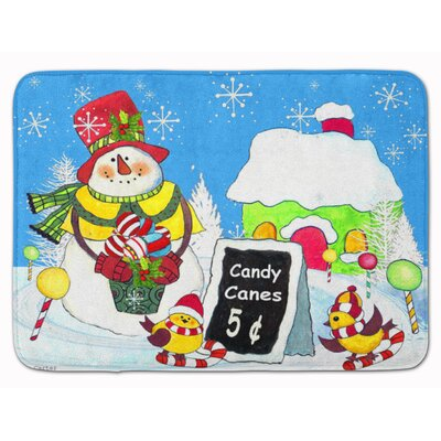Candy Cane for Sale Snowman Memory Foam Bath Rug
