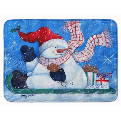 Snowman Come Ride With Me Memory Foam Bath Rug