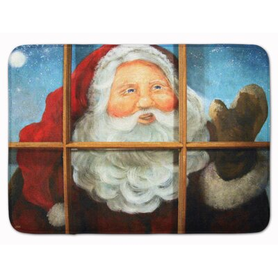 Christmas Kindly Visitor Santa Claus Memory Foam Bath Rug
