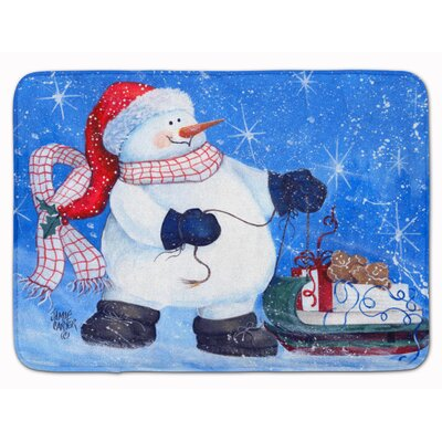 Snowman My Friends Can Ride Too Memory Foam Bath Rug