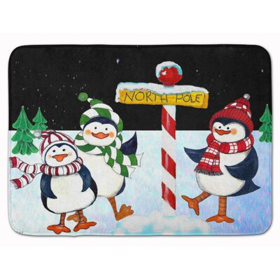 Welcome North Pole You Penguins Memory Foam Bath Rug