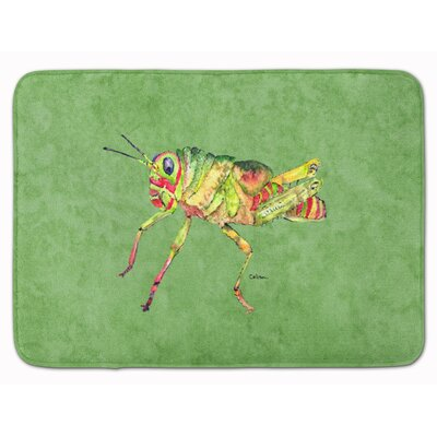 Grasshopper on Avacado Memory Foam Bath Rug