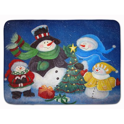 Snowman The Family Gathering Memory Foam Bath Rug