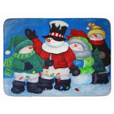 Snowman The Light Brigade Memory Foam Bath Rug