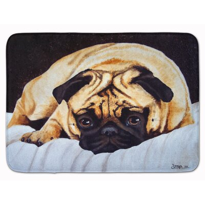 Fred the Pug Memory Foam Bath Rug