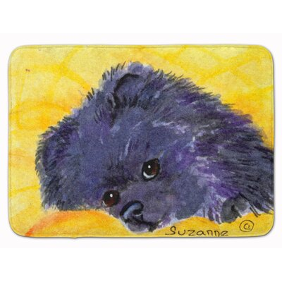 Pomeranian Memory Foam Bath Rug Color: Yellow/Purple
