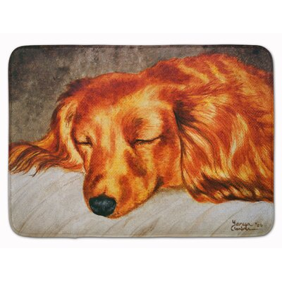 Cobby Long Hair Dachshund Memory Foam Bath Rug