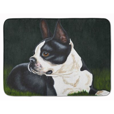 Boston Terrier Beauty Memory Foam Bath Rug