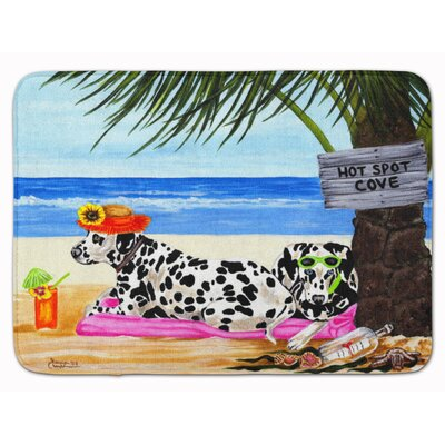 Hot Spot Cove Beach Dalmatian Memory Foam Bath Rug