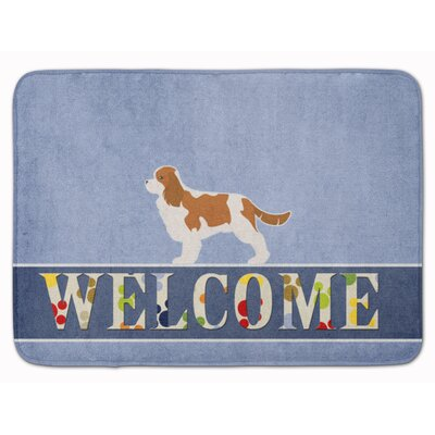 Cavalier King Charles Spaniel Welcome Memory Foam Bath Rug