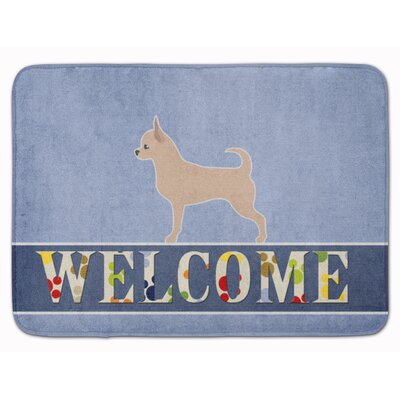 Chihuahua Welcome Memory Foam Bath Rug