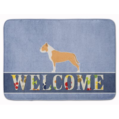 Staffordshire Bull Terrier Welcome Memory Foam Bath Rug