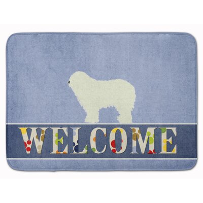 Komondor Welcome Memory Foam Bath Rug