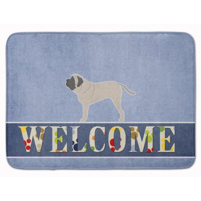 English Mastiff Welcome Memory Foam Bath Rug