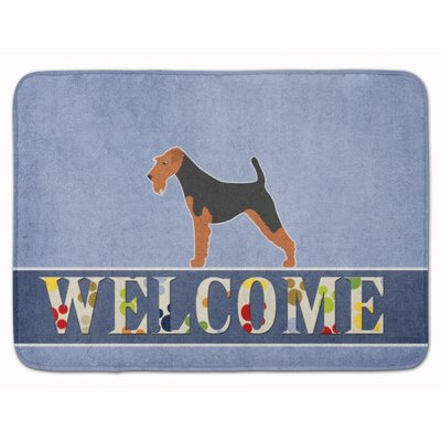 Airedale Terrier Welcome Memory Foam Bath Rug