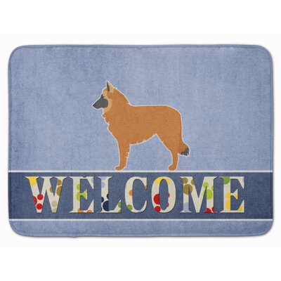 Belgian Shepherd Welcome Memory Foam Bath Rug