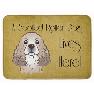 Cocker Spaniel Spoiled Dog Lives Here Memory Foam Bath Rug