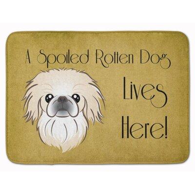 Pekingese Spoiled Dog Lives Here Memory Foam Bath Rug