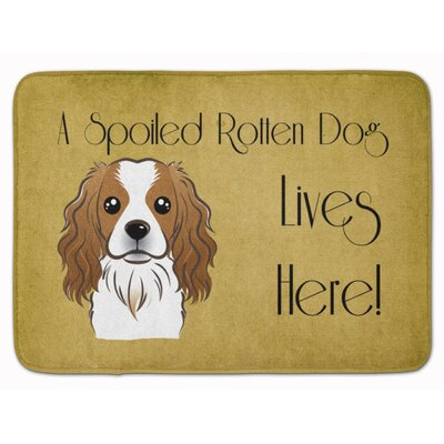 Cavalier Spaniel Spoiled Dog Lives Here Memory Foam Bath Rug