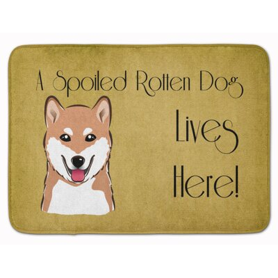 Shiba Inu Spoiled Dog Lives Here Memory Foam Bath Rug